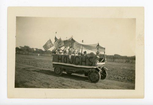 Hough's float ready for the Kaffir Corn Carnival parade, El Dorado, Butler County, Kansas - Page