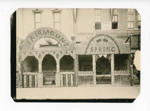 Fairmount and Spring Township Booths, Kaffir Corn Carnival, El Dorado, Kansas - Page