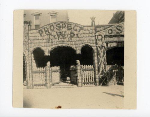 Prospect Township booth, Kaffir Corn Carnival, El Dorado, Butler County, Kansas - Page