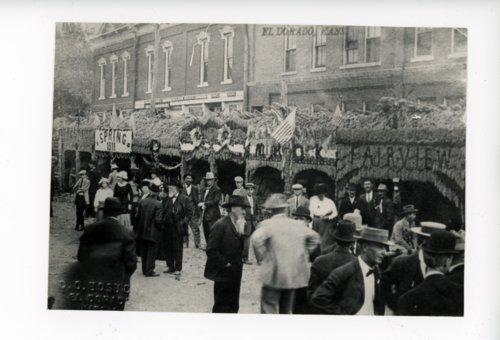Carnival Visitors in Front of Township Booths, Kaffir Corn Carnival, El Dorado, Kansas - Page