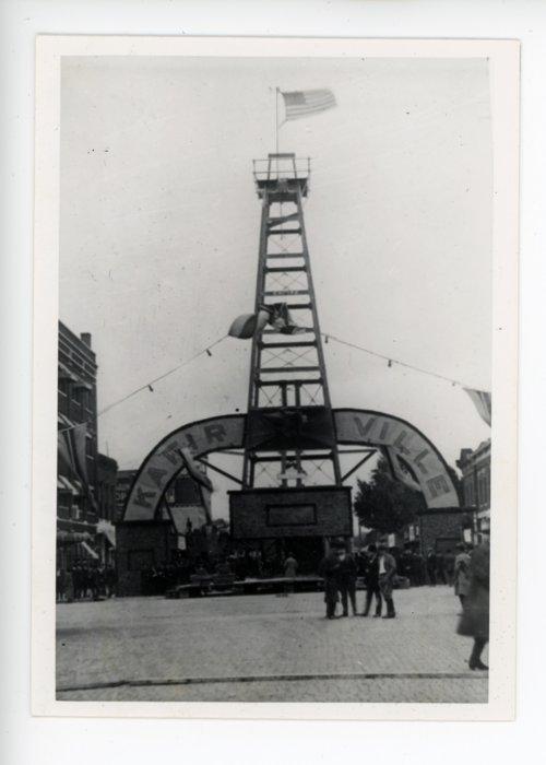 Oil Derrick & Kafirville Entry Arch, Kaffir Corn Carnival, El Dorado, Kansas - Page