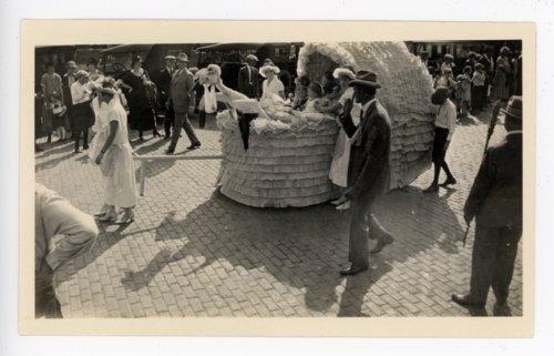 Baby parade float at the Kaffir Corn Carnival, El Dorado, Kansas - Page