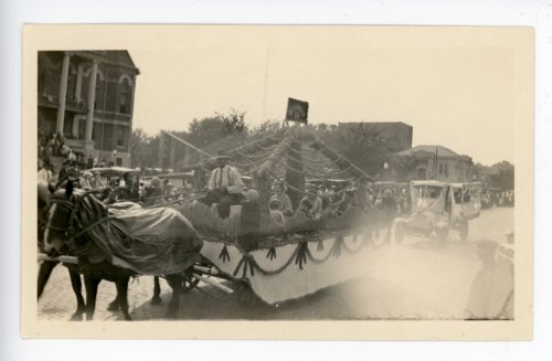 Economy school float, Kaffir Corn Carnival Parade, El Dorado, Butler County, Kansas - Page