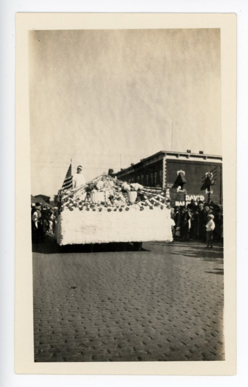 Automobile Float, Kaffir Corn Carnival Parade, El Dorado, Kansas - 02 - Page