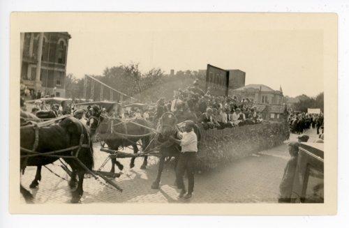 Elcoln school float, Kaffir Corn Carnival Parade, El Dorado, Butler County, Kansas - Page