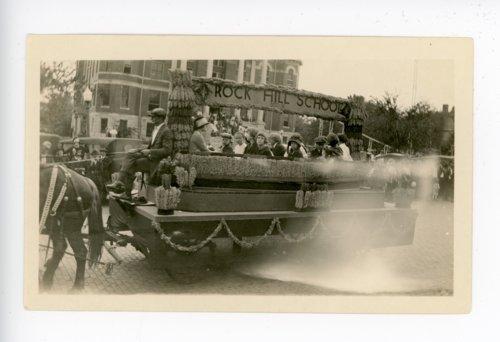 Rock Hill school float, Kaffir Corn Carnival Parade, El Dorado, Butler County, Kansas - Page