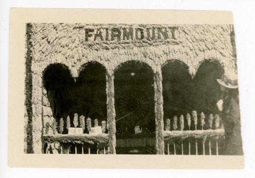 Fairmount Township booth, Kaffir Corn Carnival, El Dorado, Butler County, Kansas - Page