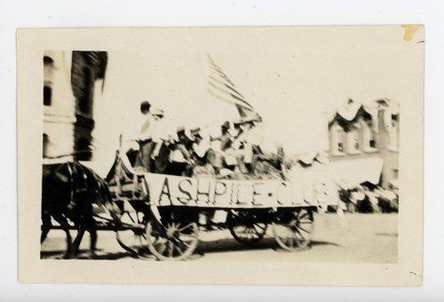 Ashpile Club float, Kaffir Corn Carnival Parade, El Dorado, Kansas - Page