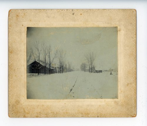 Farmstead snow scene, Butler County, Kansas - Page