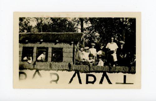 School float in Kaffir Corn Carnival parade, El Dorado, Butler County, Kansas - Page