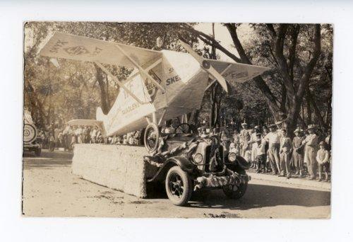Skelly Oil Airplane float, Kaffir Corn Carnival parade, El Dorado, Butler County, Kansas - Page