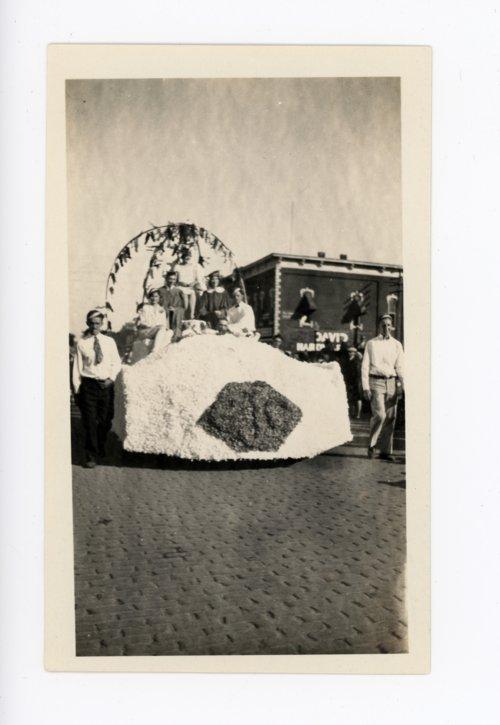 Graduates float, Kaffir Corn Carnival parade, El Dorado, Butler County, Kansas - Page