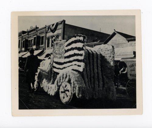 American flag float, Kaffir Corn Carnival Parade, El Dorado, Kansas - Page
