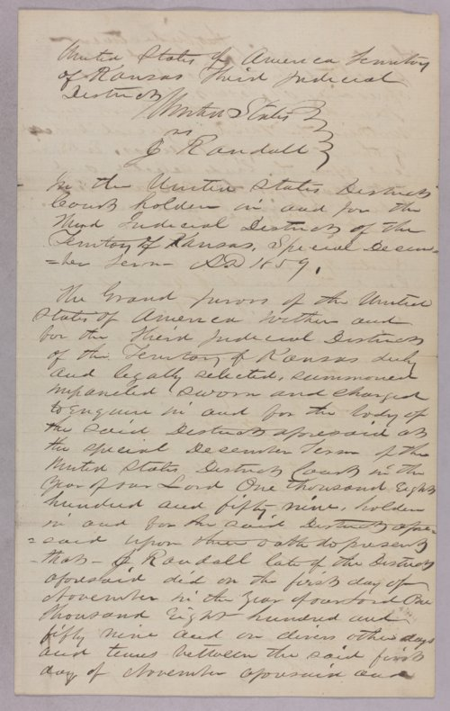 United States versus J. Randall for taking Indian's timber - Page