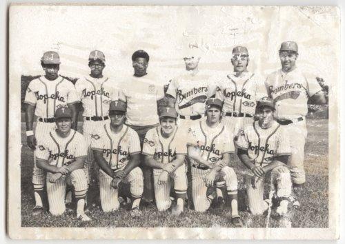 Sherman A. Parks, Jr. with the Topeka Bombers baseball team, Topeka, Kansas - Page