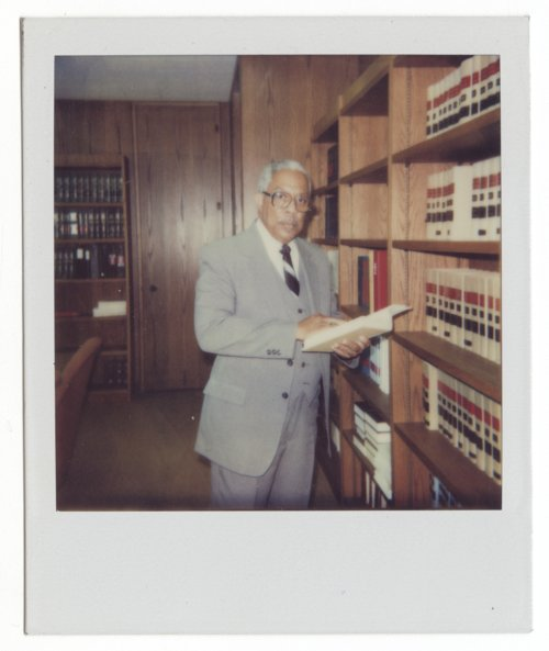 Judge Sherman A. Parks, Sr. in his office, Topeka, Kansas - Page