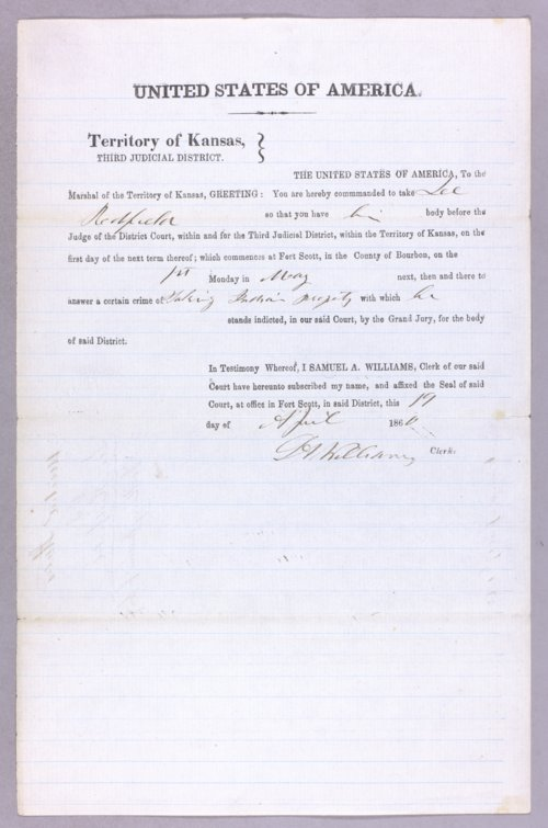 United States versus Lee Redfield for taking Indian property - Page