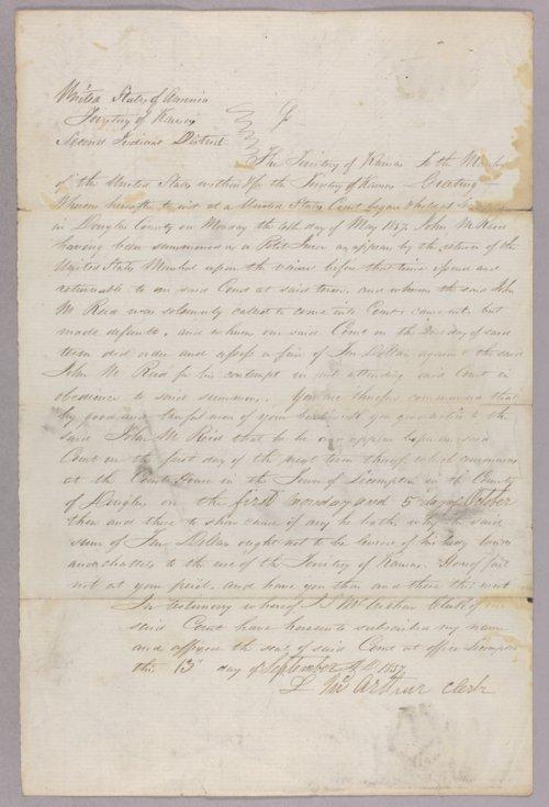 Kansas Territory versus John M. Reid for contempt - Page