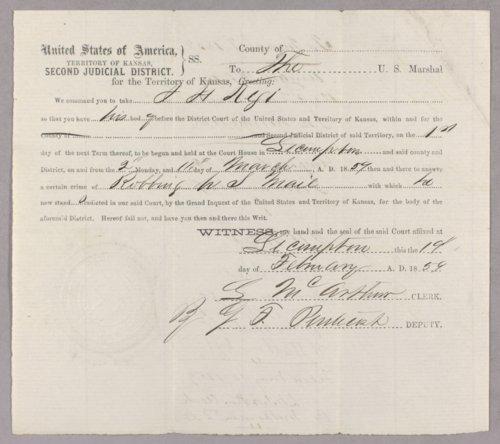 United States versus John Richie, John H. Kagl, Charles Whipple, Alexander Jamison, Charles Moffitt for robbing U. S. Mail - Page