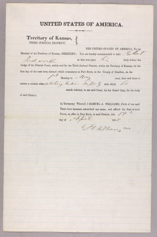 United States versus Robert Ridsworth for taking Indian property - Page