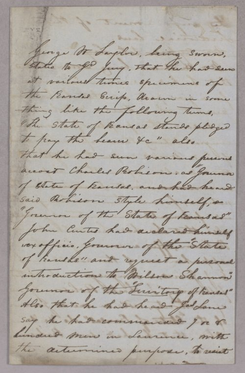 Kansas Territory versus Charles Robinson for usurpation of office - Page