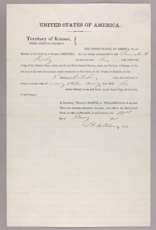 United States versus Samuel C. Roby for receiving stolen property - Page