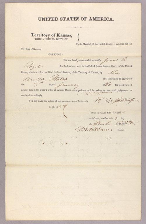 United States versus James B. Sage for settling on Indian land - Page