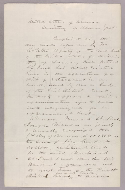 United States versus Bertrand St. Paul for resisting execution of a writ - Page