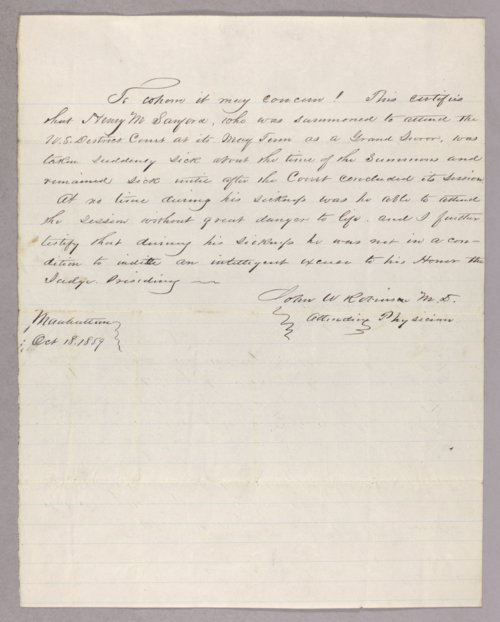 United States versus Henry M. Sanford for contempt - Page