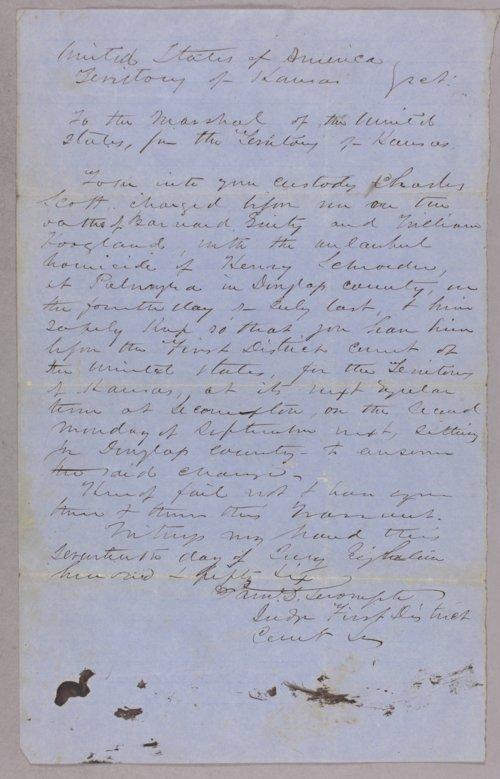 Kansas Territory versus Charlie Scott for murder - Page