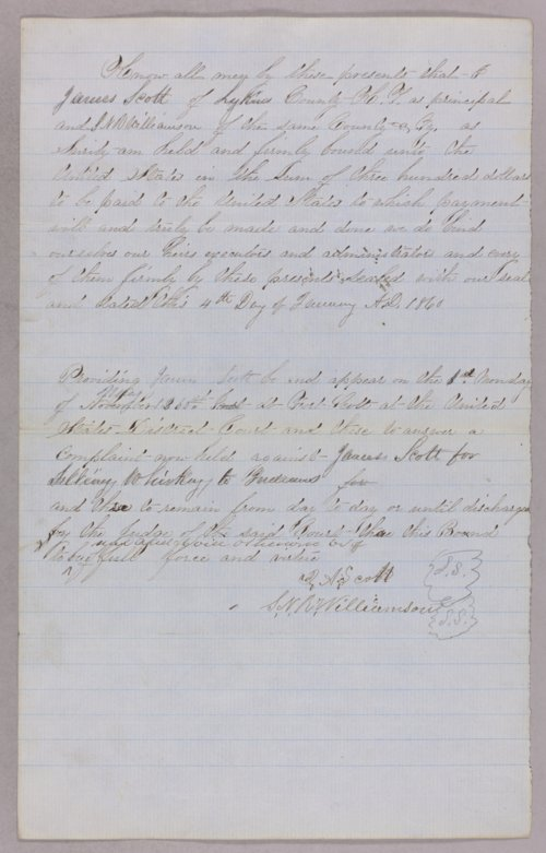 United States versus James Scott for selling liquor to Indians - Page