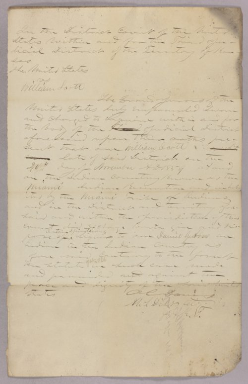 United States versus William Scott for selling liquor to Indians - Page