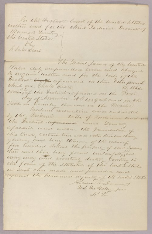 United States versus Charles Sears for taking Indian timber - Page