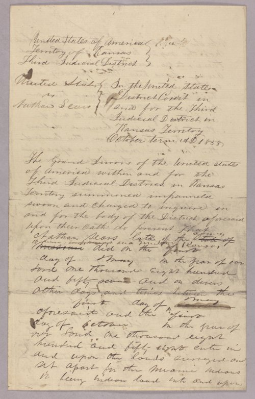 United States versus Nathan Sears for taking Indian timber - Page