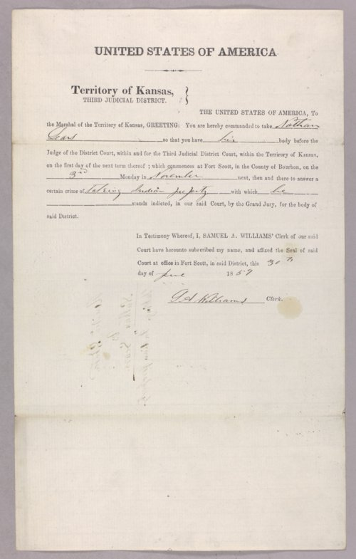 United States versus Nathan Sears for taking Indian property - Page
