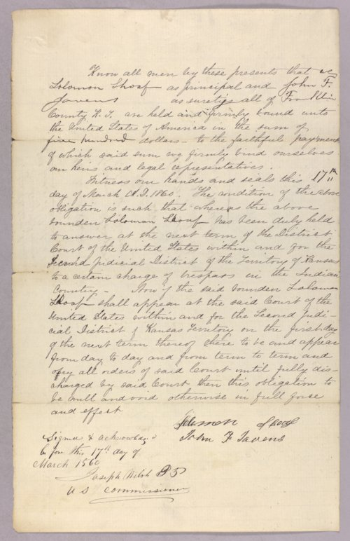 United States versus Solomon Shoaf for trespass in Indian country - Page