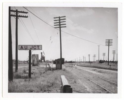 Atchison, Topeka and Santa Fe Railway Company's sign board, Chanute, Kansas - Page