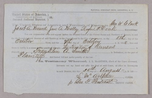Kansas Territory versus Franklin A. Smith for larceny - Page