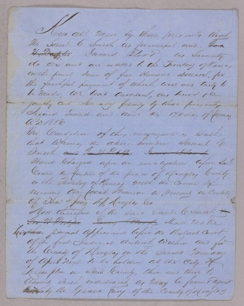 Kansas Territory versus Samuel C. Smith for helping a fugitive - Page