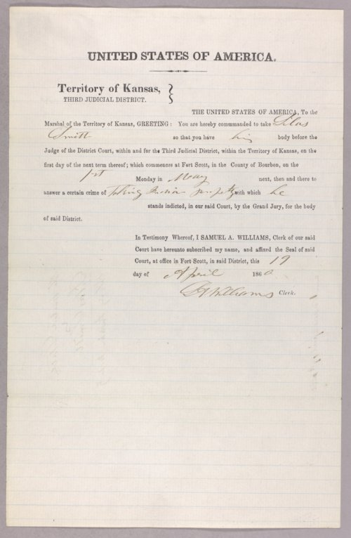 United States versus Silas Smith for taking Indian property - Page