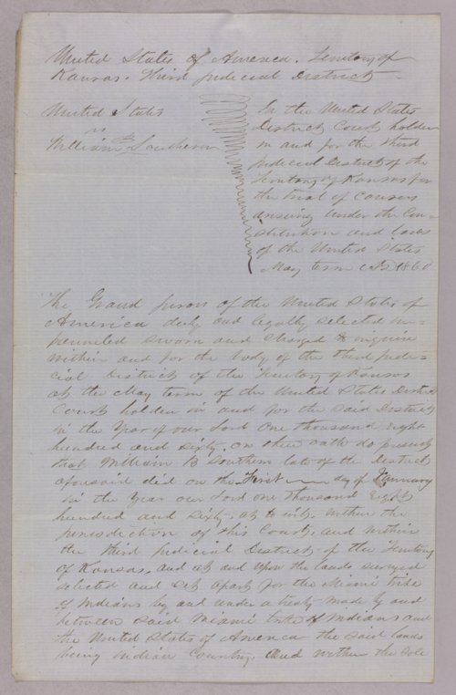 United States versus William Southern for selling liquor to Indians - Page