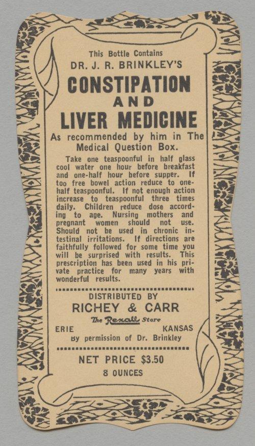 Medicine label - Page