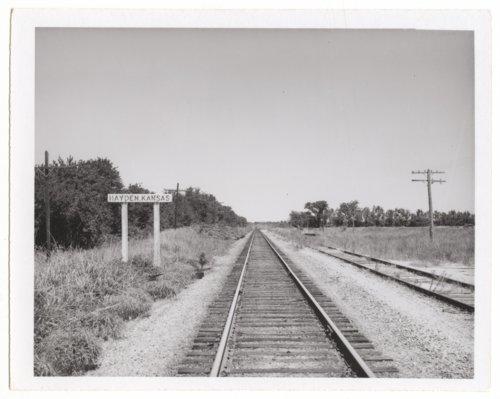 Missouri, Kansas-Texas Railroad sign board, Hayden, Kansas - Page