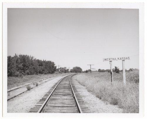 Missouri-Kansas-Texas Railroad sign board, Hertha, Kansas - Page