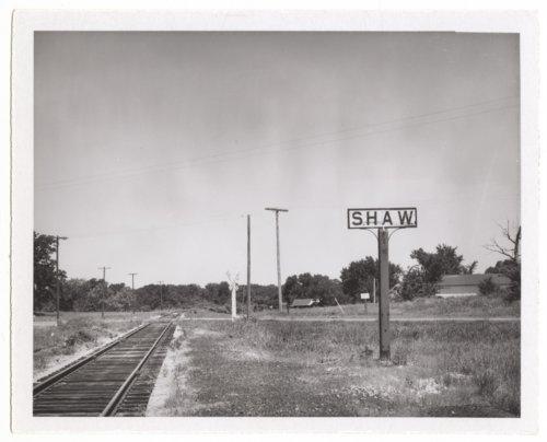 Atchison, Topeka, and Santa Fe Railroad Company's signpost, Shaw, Kansas - Page