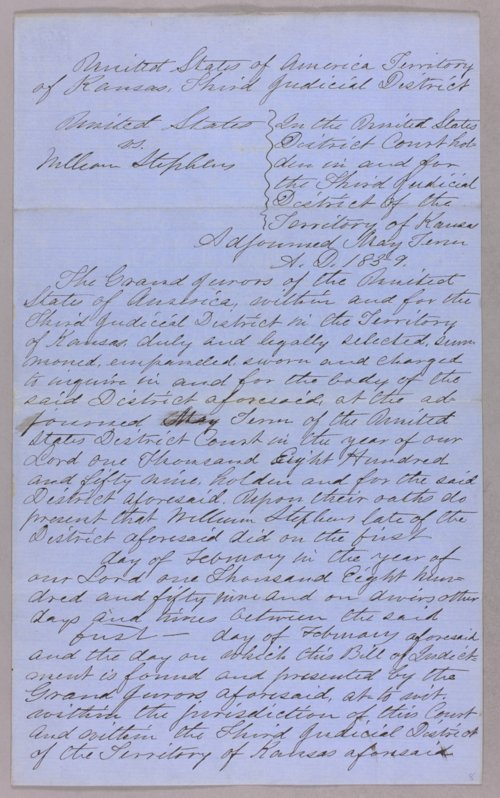 United States versus William Stephens for taking Indian timber - Page