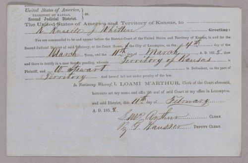 Kansas Territory versus William Stewart for gambling - Page