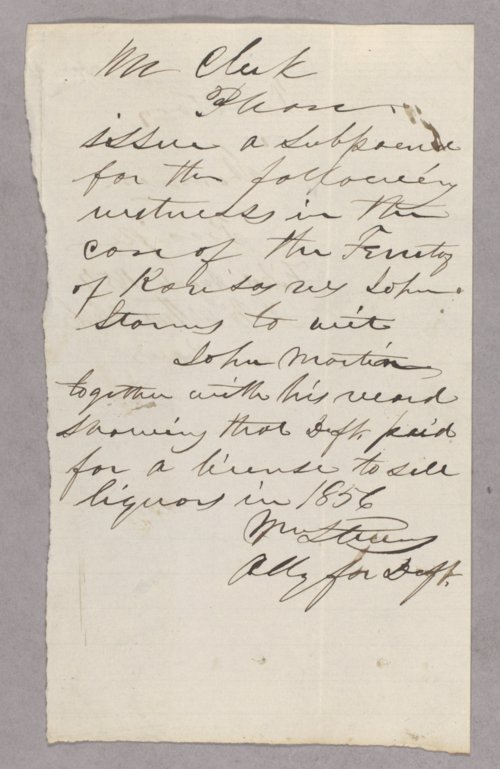 Kansas Territory versus John J. Storm for selling liquor to Indians - Page