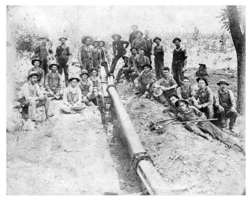 Gas line crew, Neosho County, Kansas - Page