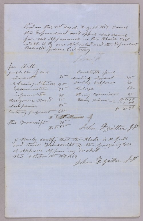 Kansas Territory versus John Sweden for assault and battery - Page